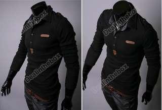 2012 New Mens Korean Spring Lapel Casual Thin POLO Shirt Top England