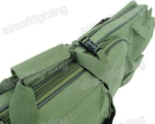 Airsoft Tactical Dual AEG Rifle Carrying Case Bag Olive Drab 100CM