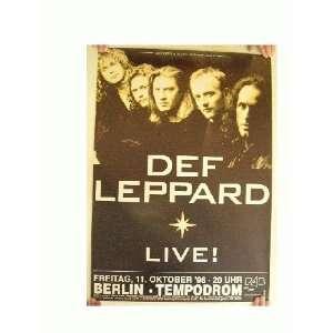 Def Leppard Concert Tour Poster
