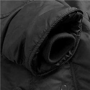ALPHA INDUSTRIES N 3B PARKA BLACK COAT LARGE ARMY