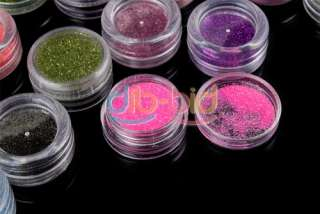 Up Decor Glitter Sparkle Dust Powder Nail Art Body Pigment Set