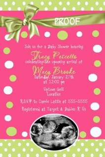 King of the Jungle BABY Shower INVITATION Ultrasound
