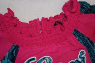 COOGI GIRLS CLOTHES PINK / BLUE SHIRT SIZE 4T NEW NWT