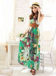 New BOHO Style Womens Casual Exotic Summer Floral Prints Maxi Dress