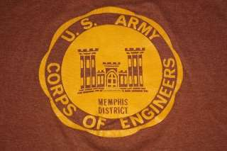 vtg 70s US ARMY CORPS OF ENGINEERS shirt MEMPHIS