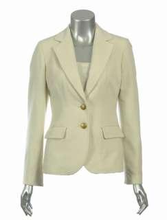 Sutton Studio Womens 100% Cashmere Blazer Jacket