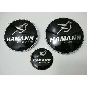 High Quality Bmw HAMANN 82mm + 74mm + 45mm Hood Trunk Steering Emblem