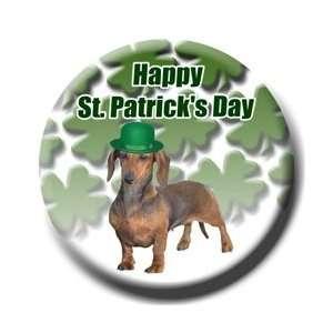 Dachshund St Patricks Day Pin Badge Button No 1