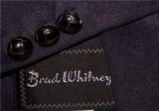 42R BRAD WHITNEY Dark Navy WESTERN MICROFIBER sport coat suit blazer