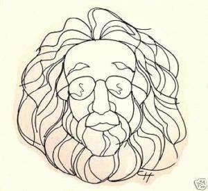 36 Jerry Garcia Grateful Dead Wire Caricature Wall Art