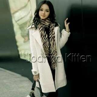 JK Women's Wool Blends Long Warm Winter Coats Trench Coat Jackets