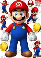 Super MARIO STANDING RePositionable wall Sticker/Decal