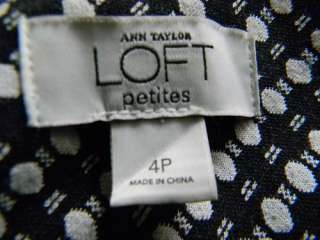 ANN TAYLOR LOFT▐ Black&Whiter Geometric Print Skirt Size 4P