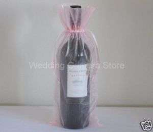 12 pink Organza Bags   Bottle/Wine bags,Gift bags 6x14