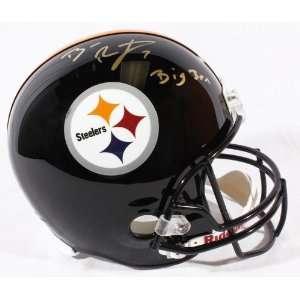 Ben Roethlisberger Autographed Helmet w/ Big Ben   Replica