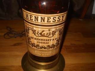 Hennessy Cognac Bras Arme 1/2 Gallon Bottle Lamp