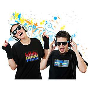 New Sound Activated LED Light Up T Shirt   3 Designs