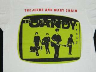 1985 THE JESUS AND MARY CHAIN VTG T SHIRT SHOEGAZE cure