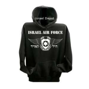 Israel Army Air Force Pilot Wings Sweatshirt Hoodie L