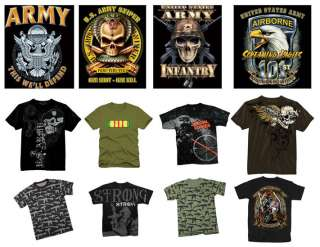US Army Vintage Tee Military Troops Graphic Art T Shirt