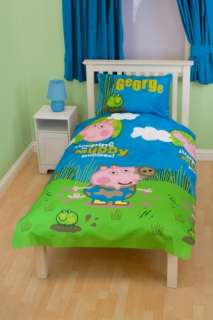 GEORGE PIG PEPPA PUDDLES SINGLE TWIN BEDDING DUVET QUILT DOONA COVER