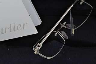 Cartier Solid White Gold & Diamond Rimless Glasses (Sun) Rare