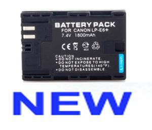 NEW LP E6 LPE6 BATTERY Pack FOR Canon EOS 5D Mark II 7D