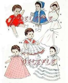 Vintage Doll Wardrobe Pattern 8 Ginette Ginger 8351