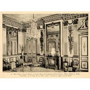 1919 Print Grand Salon Hotel dOrsay Paris Louis Seize