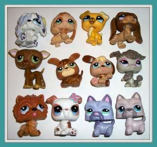 LOT~SCOTTIE~BEAGLE~BULLDOG~WHIPPET~CHOW~Littlest Pet Shop K284