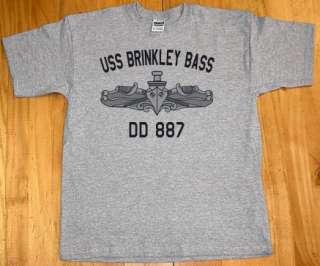 US USN Navy USS Brinkley Bass DD 887 Destroyer T Shirt