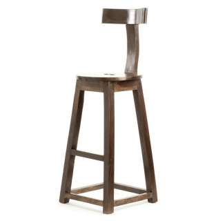 Modern Industrial Rustic Solid Wood Counter Stool