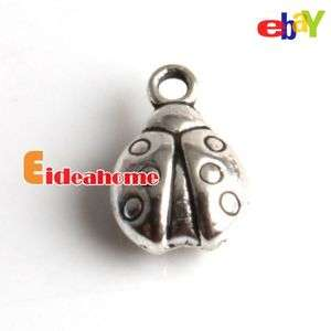 Fashion 90x Ladybird Tibetan Silver Alloy Charms Pendants 140184 Free