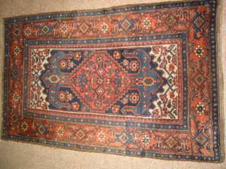 c1900s Antique Kurdish Hand Knotted Persian Rug B 7824