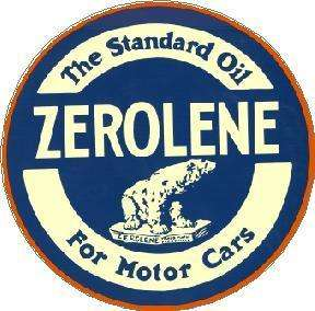 ZEROLENE MOTOR OIL VINYL STICKER (A983)
