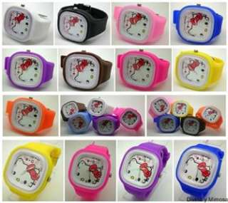 NEW HELLO KITTY SQUARE QUARTZ WATCH INTERCHANGEABLE STRAP HOT