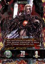 Resident Evil Foil Card Infected Albert Wesker Promo