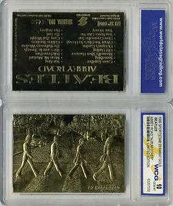 BEATLES 23 KT GOLD CARD GEM MT 10 ABBEY ROAD ALBUM COVER KARAT