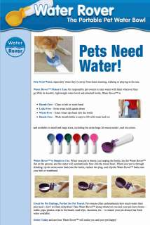 Water Rover Portable Pet Dog Drinking Bowl   Red