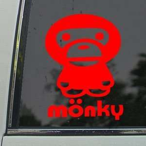 Anime Monkey Cartoon Red Decal Car Truck Window Red