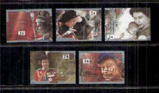 Great Britain   #1110 Queens Accession Set of 5   1992 VFU