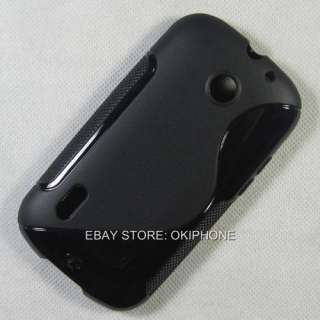 Black New Soft Gel TPU Case Cover Cas Skin For Huawei U8650 Sonic FREE