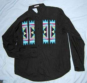 Activity Road Black Western Womans Shirt Small USED