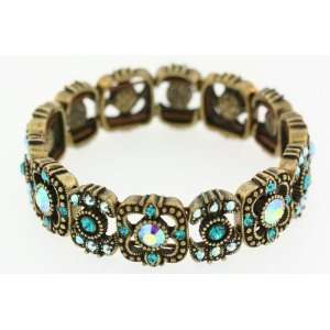 Kirks Folly Sparkling Twilight Stretch Bracelet AQUA