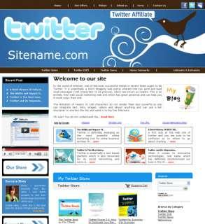 Money Making Twitter Affiliate  Website for Sale