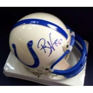 Reggie Wayne Colts Autographed / Signed Mini Helmet