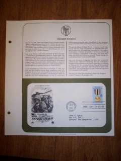 FIRST DAY ISSUE DESERT STORM STAMP ON ENVELOPE 7 2 1991