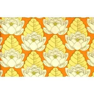 By the Yard AMY BUTLER Fabric LOTUS POND Tangerine AB21