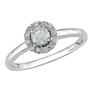 Gold Diamond Engagement Ring, (.5 cttw G H Color, I2 Clarity) Jewelry