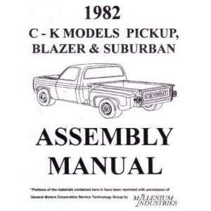 1982 CHEVY 10 30 TRUCK BLAZER SUBURBAN Assembly Manual Automotive